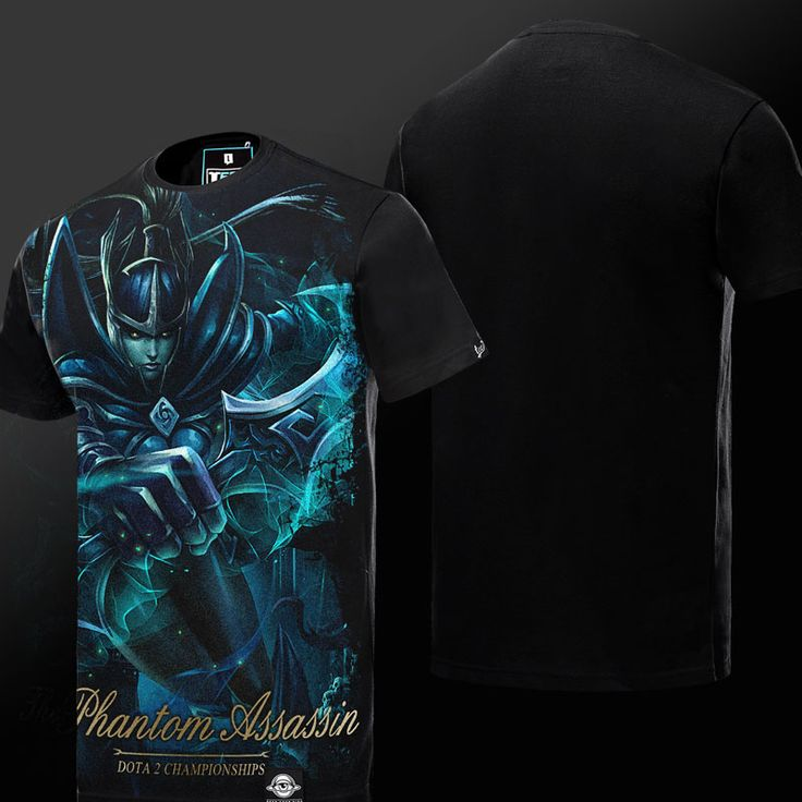 DOTA 2 Phantom Assassin T-shirt Defense of the Ancients Hero Tee