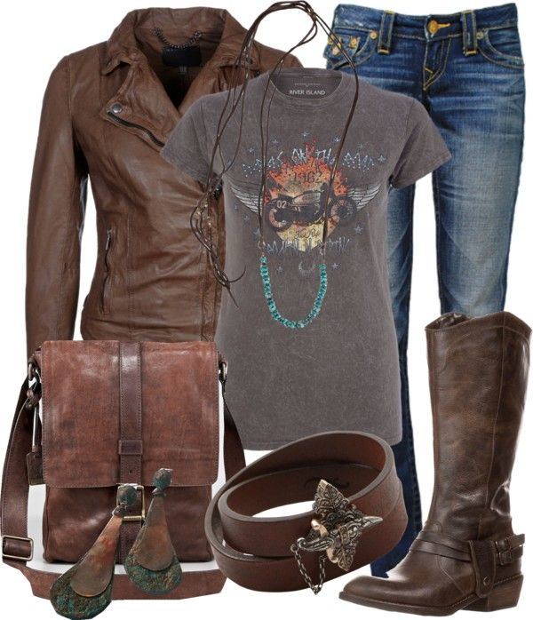 """Biker Look"" by gangdise on Polyvore"