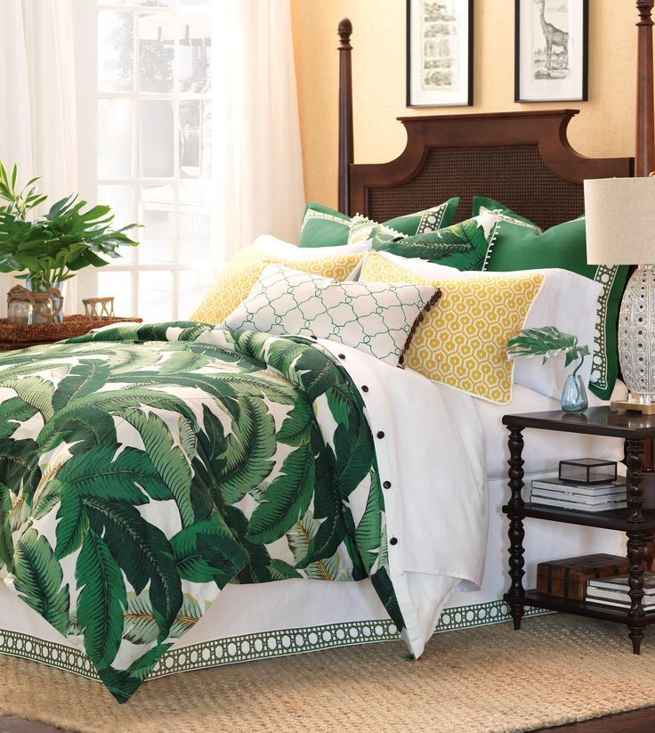 Luxury Bedding by Eastern Accents  Lanai Collection  Island House Design  Tropical bedrooms