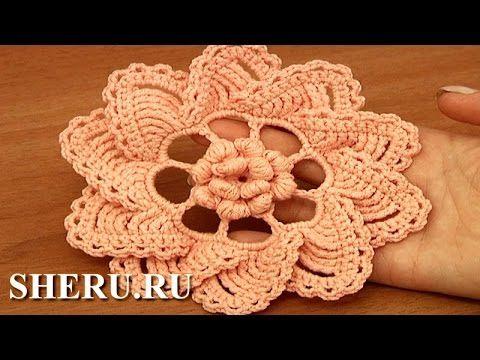 Цветок крючком Урок 91 Вязание
