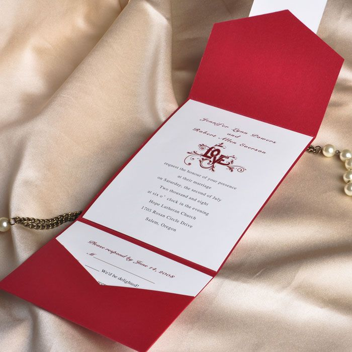 Wedding Invitations Ideas Pinterest: 38 Best Images About Red Wedding Invitations On Pinterest