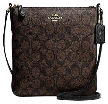 Coach F35940 North/south In Signature Brown/Black Cross Body Bag on Sale, 39% Off   Cross Body Bags on Sale at Tradesy