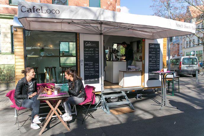 Bauwagen Cafe Mobile Kaffeebar Cafebar Cafe Loco Hannover Cafe Kaffee Espresso Bar