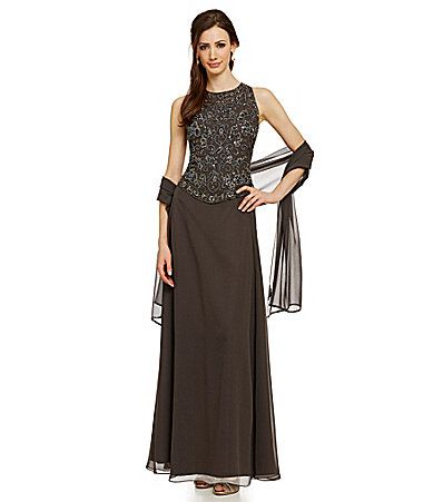 Jkara Beaded Bodice Gown #Dillards