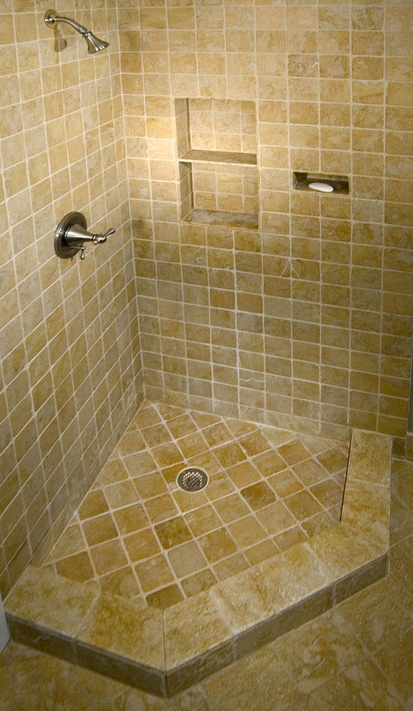 Corner shower for a small bathroom over the shower for Find bathroom contractor