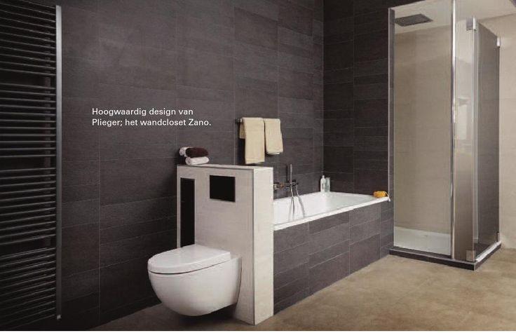 25 beste idee n over donkergrijze badkamers op pinterest moderne badkamers - Donkergrijze verf ...