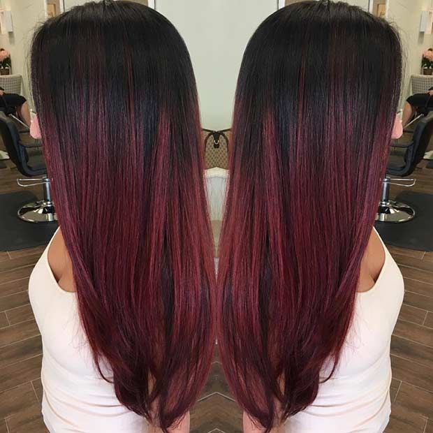 31 Best Red Ombre Hair Color Ideas Page 2 Of 3 Stayglam Red Ombre Hair Hair Color Red Ombre Black Hair Ombre