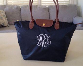 Nylon Purse Bag Longchamp Inspired Bag by SassyClassyMonogram