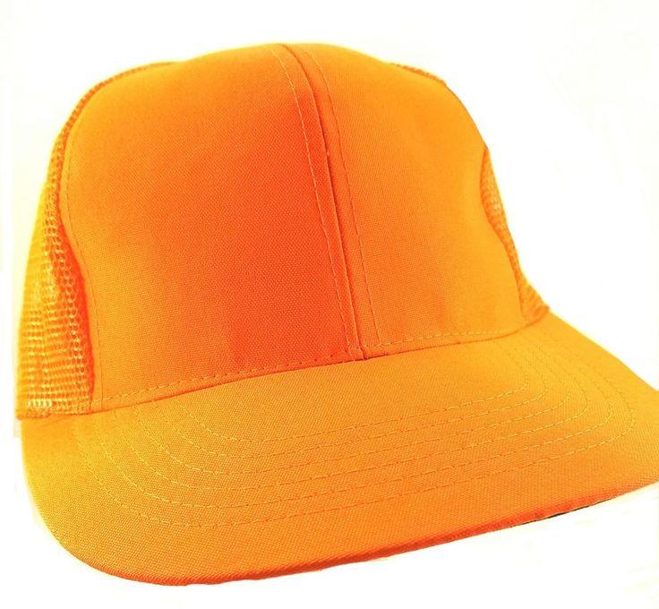 #DUCKBAY #DUCK #BAE #Orange #Hunting #HAT Adjustable #Mesh #Trucker #Snapback #CAP #NEW w/ Tags  #TruckerHat #eBay