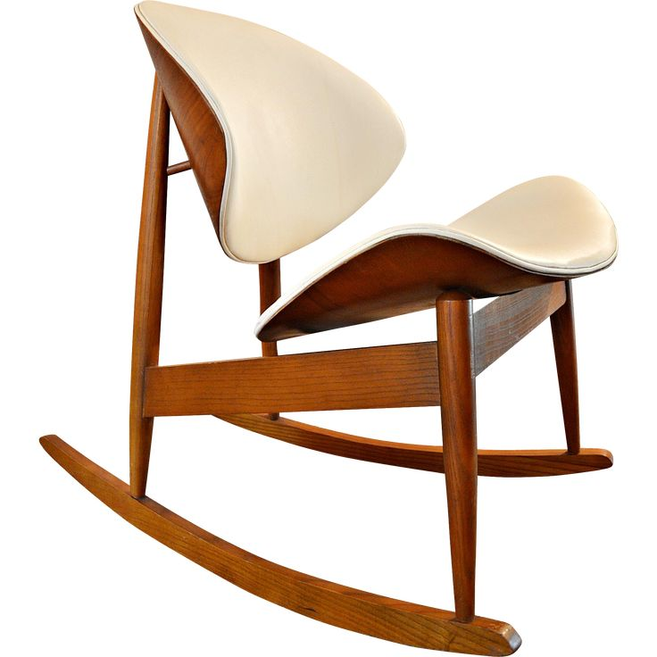 Beautiful lines on this rare rocking chair attributed to Seymour J. Wiener for Kodawood in the 1960s. Bentwood teak shell with walnut frame. All