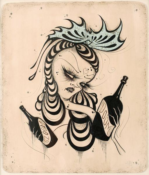 Camille Rose Garcia - Gloom and Doom #camillerosegarcia #jonathanlevinegallery