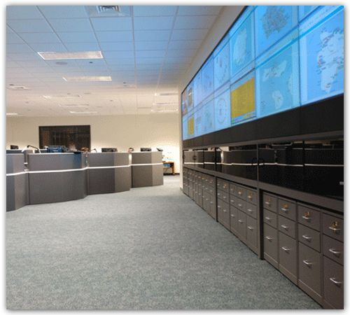 Telecom Operations  Consoles and DLP Video Wall-3