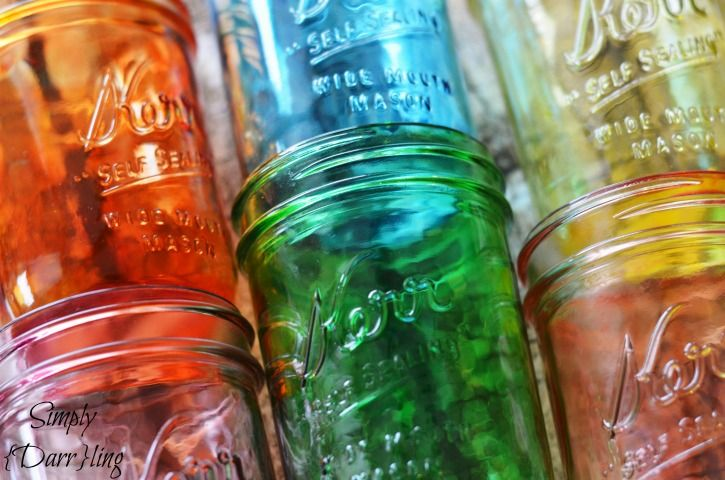 DIY Tinted Mason Jars - perfect for spring and summer BBQs or home decor