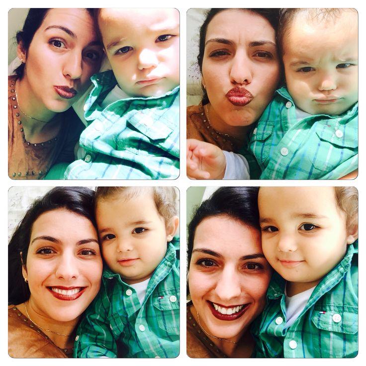 Caras e bocas na selfie com Matteo