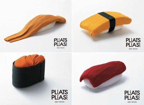Sushi Clothes – Pleats Please Izzey Miyake by Taku Satoh Design Office Inc.
