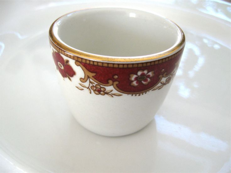 Antique English Salt Cup John Maddock Ultra Vitrified THF Red White Gold by ErmaJewelsVintage on Etsy