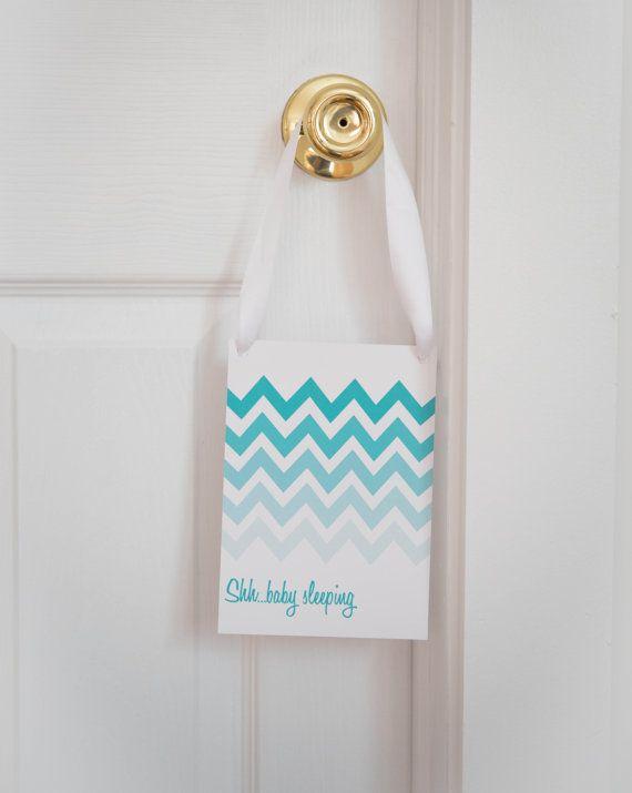 Baby   Mom Ombr  Chevron Nursery Door Sign Set. 47 best Nursery images on Pinterest   Nursery ideas  Babies