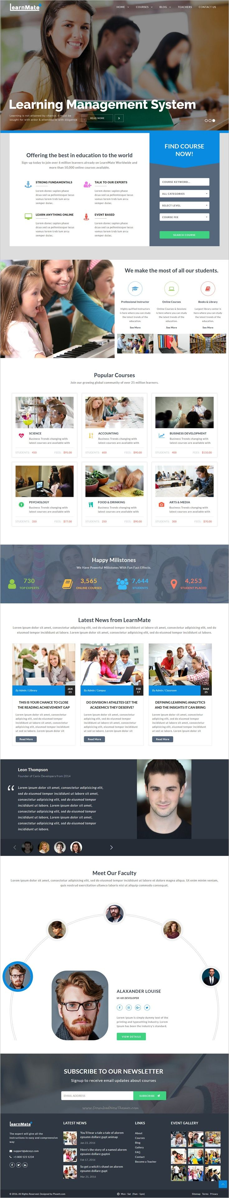 LearnMate is a professional 5in1 #bootstrap #template for #education & learning management system website download now➩ https://themeforest.net/item/learnmate-learning-college-courses-education-html-theme/19037605?ref=Datasata