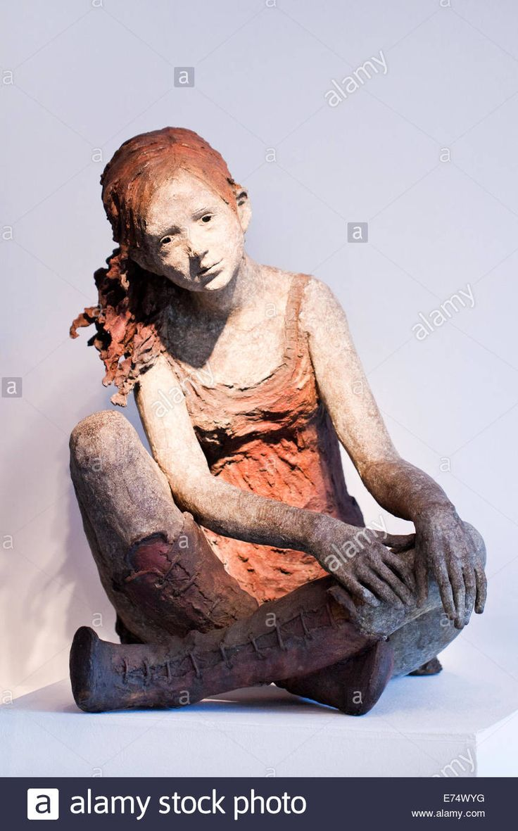 Bronze Sculpture Of A Young Girl By French Sculptor Jurga, On ...
