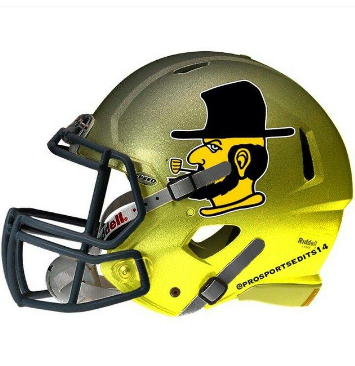Appalachian state mountaineers football helmets college