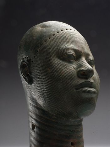 A copper head dated from the late 14th to the early 16th century is thought to represent a venerable person in the Ife kingdom.