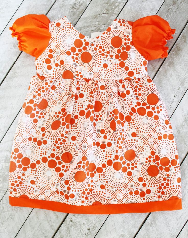 Puff Sleeve Toddler Dress with Free Sewing Pattern