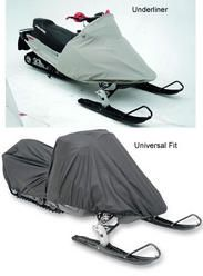 Snowmobile covers for Polaris Centurion Indy 500 1981 snowmobiles. Choice of covers include the universal fit cover and the  underliner.