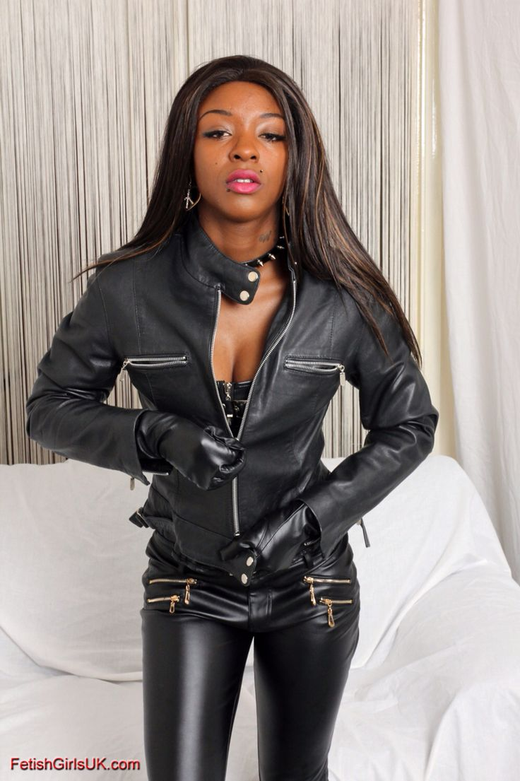 Fetish in leather woman