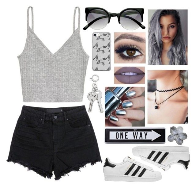 """I've been up all night, no sleep... cuz it feels like I'm always dreaming"" by happinesspeaceandlove ❤ liked on Polyvore featuring Alexander Wang, H&M, adidas Originals, Jeffree Star, Music Notes and Moschino"