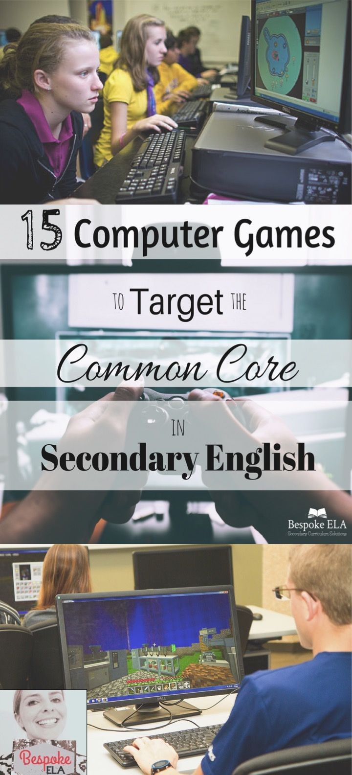 In this blog article from Bespoke ELA, you will find a list of 15 computer games that target Common Core skills in secondary English Language Arts for grades 6-12. This blog also discusses the criteria for selecting high quality games and a rationale for using them to assess student learning in the classroom.