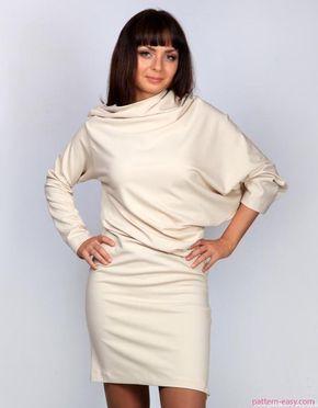 Платье с драпировкой (перекошенный крой)   Выкройки онлайн и уроки моделирования