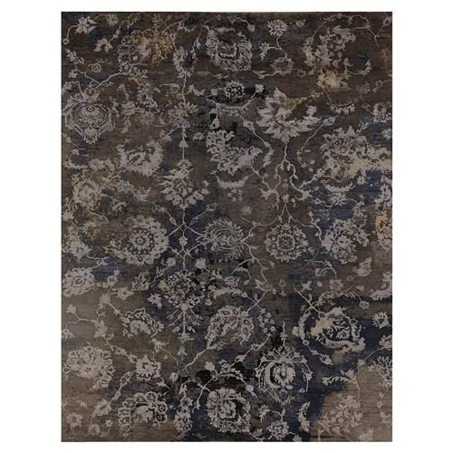 Hundley Modern Classic Floral Damask Pattern Distressed Taupe Rug - 8' x 10'