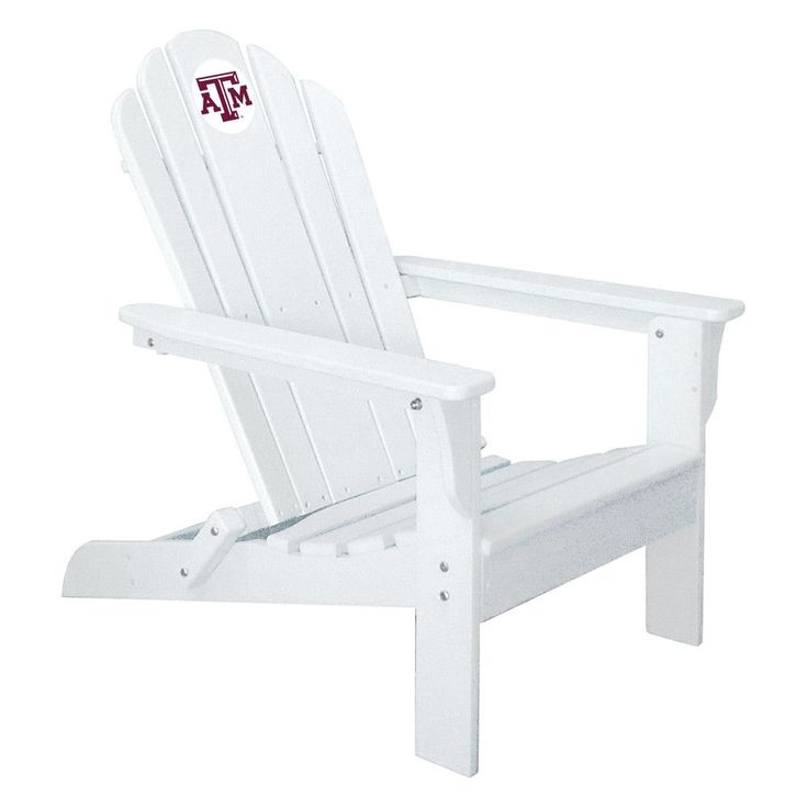 Texas A&M Aggies Folding Composite Adirondack Patio Chair in White