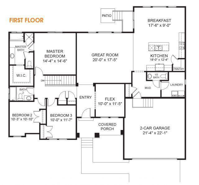 Katrina Rambler House Plan Utah Home Edge Homes Rambler House Plans Rambler House House Plans
