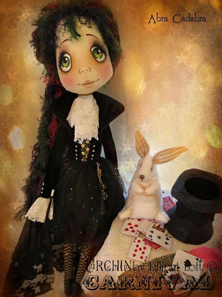 'Abra Cadabra' Art Doll Urchin by Vicki @ Lilliput Loft
