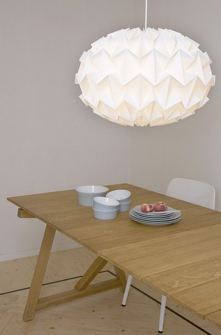 223 best the wisely pendant lights images on pinterest pendant studio snowpuppe paper origami lampshade greentooth Images