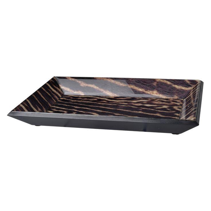 A and B Home Safari Cheetah Decorative Tray - AV41240