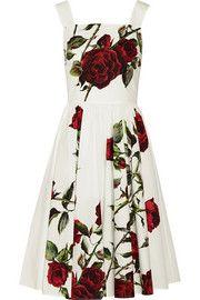 Dolce & GabbanaFloral-print cotton-poplin dress
