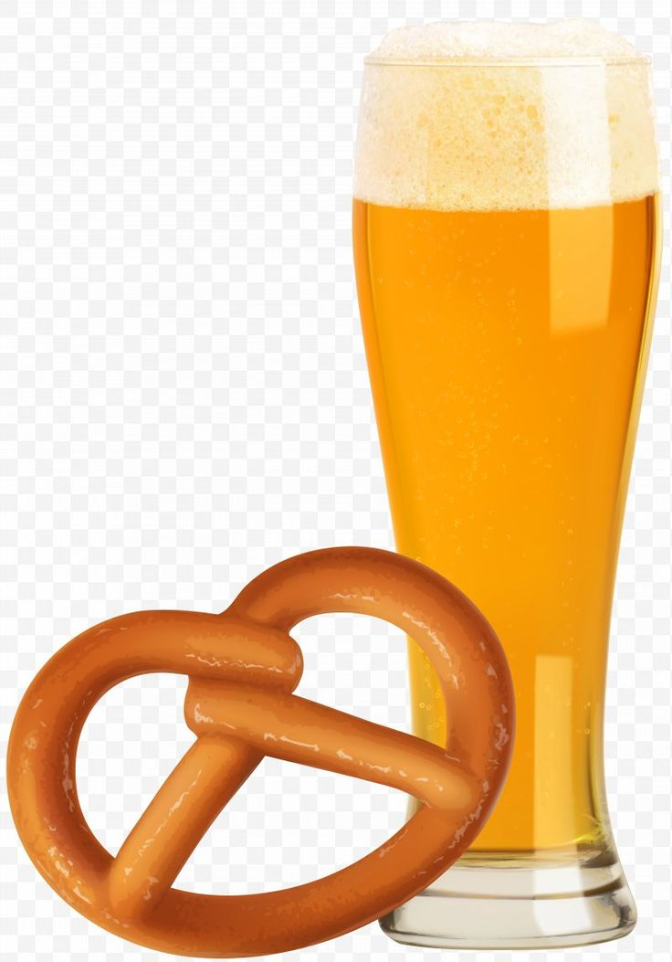Oktoberfest Beer And Pretzel Transparent Clip Art Image – Wheat Beer Pretzel Okt…