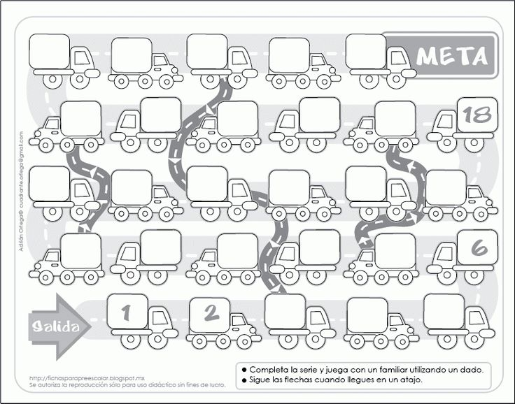 Super juego de mesa matemático Completar series y jugar con dados