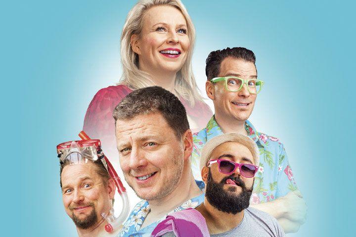 Kesäteattereissa saadaan kokea suomalaisen stand upin huippuhetkiä, kun Suomi Nauraa! -kiertue valtaa 15 paikkakuntaa