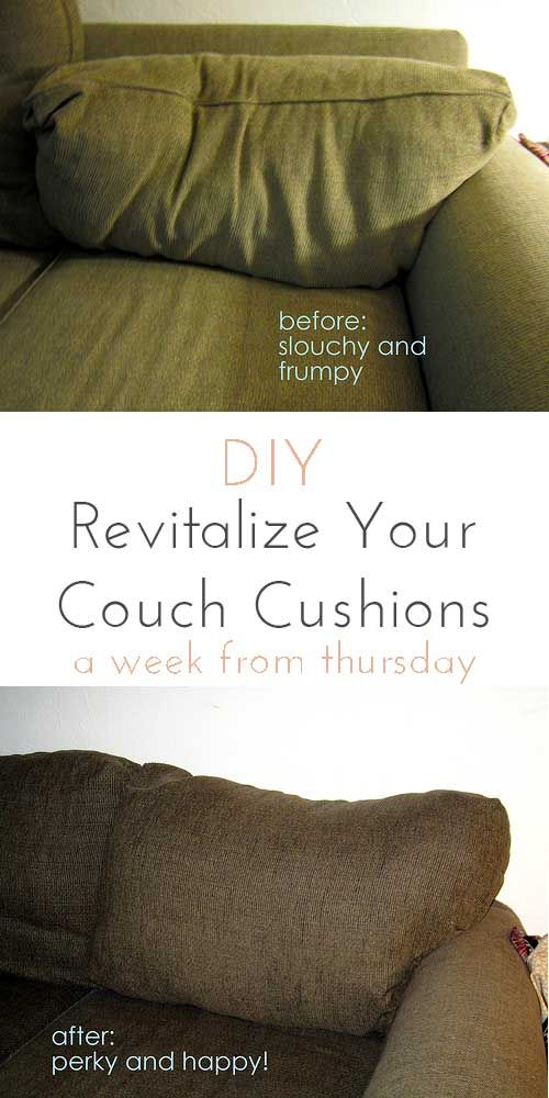 Make those frumpy cushions look brand new! Revitalize your couch cushions!