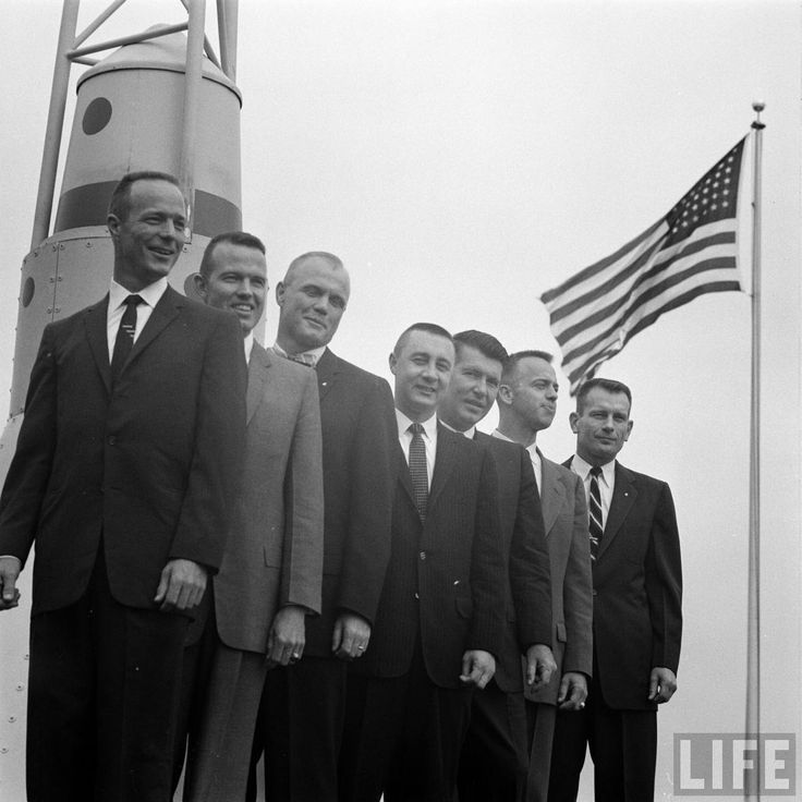 Seven Astronauts See Mockup Of Space Capsule For First Time Date taken:	1959 Photographer:	Francis Miller