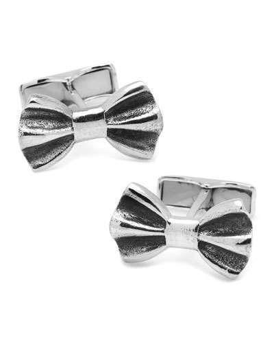 Cufflinks Inc. Sterling Silver Bow Tie Cuff Links