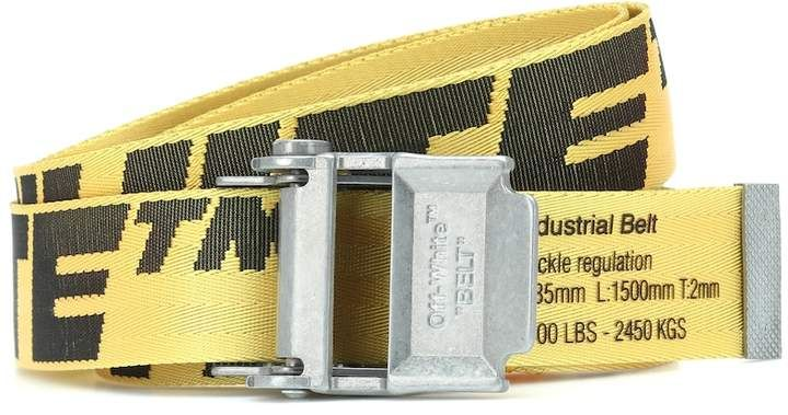 2 0 Industrial Belt Belt Metallic Leather Off White