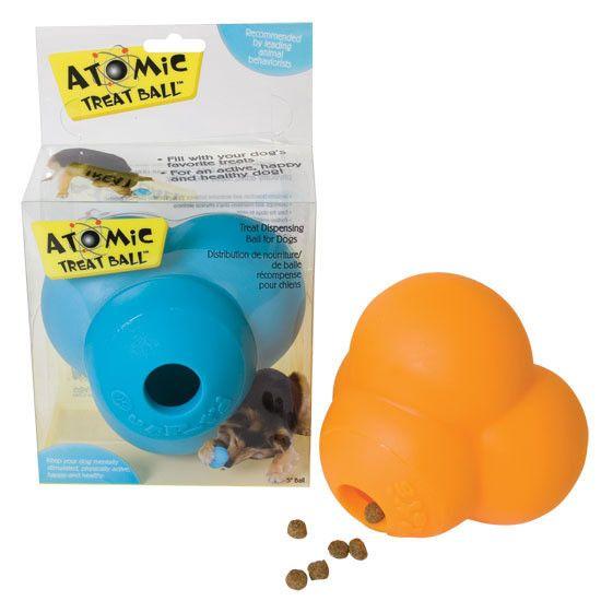 Atomic Treat Ball Dog Treat Toy Dispenses Dog Treat as Your Dog Plays