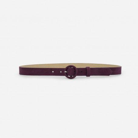 Prune Circle Low Waist Belt | CHARLES & KEITH