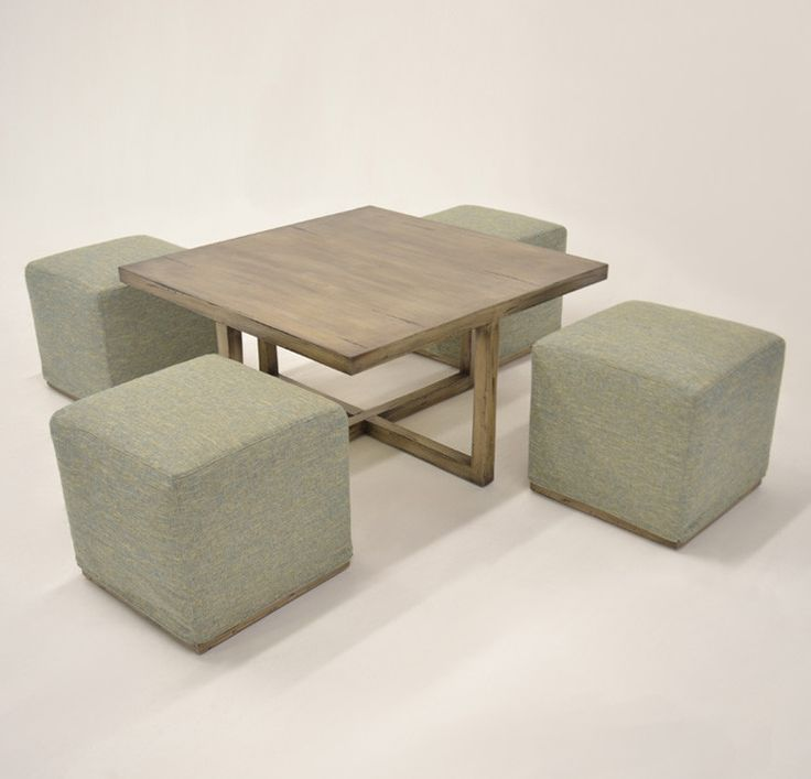 Quatrine Alton Coffee Table with additional seating #nestingtable #slipcovers