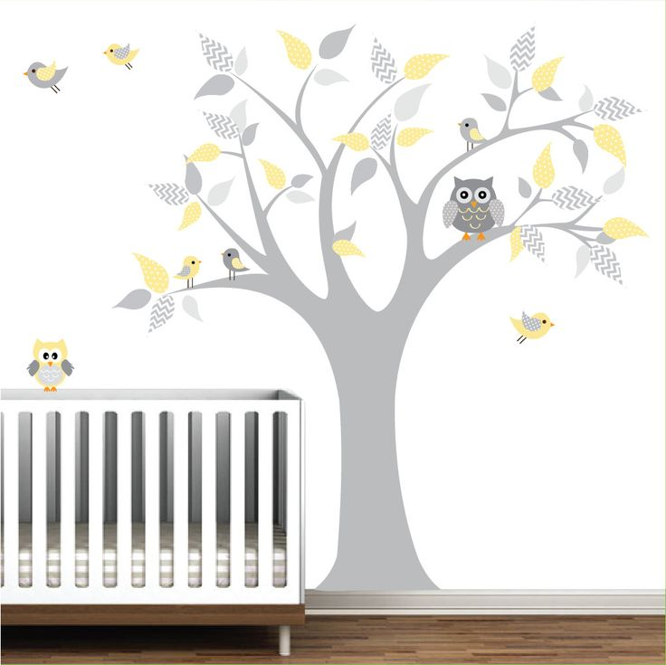 Vinyl Wall Decals Tree with chevron pattern-nursery children wall decals stickers. $99.00, via Etsy.
