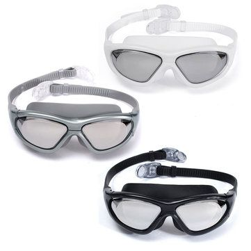 Adjustable Eye Protect Adult Non-Fogging Coating UV Swimming Goggles Glasses
